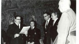 �ngel Nieto con Francisco Franco