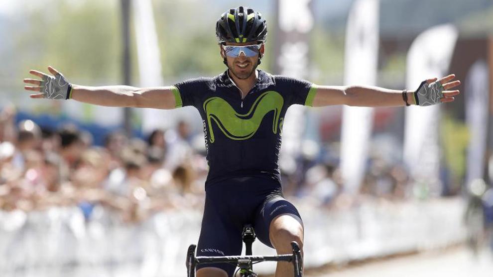 Izaguirre (29) festeja su triunfo en el Gran Premio de Primavera en...