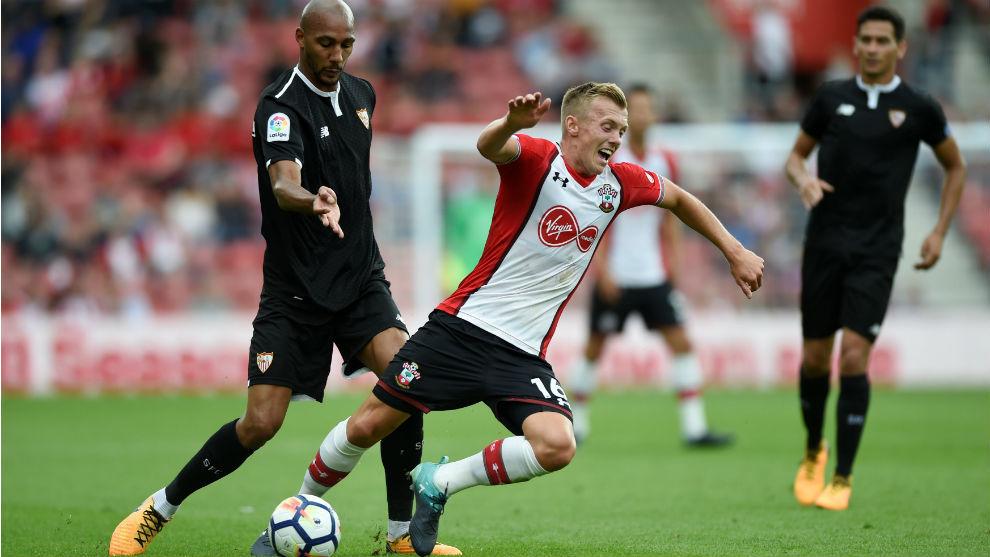 Nzonzi, en el partido ante el Southampton.