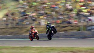 Rossi y Márquez, en Brno.