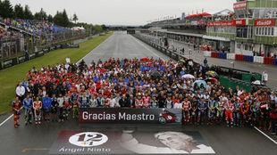 Minuto de silencio en memoria de Ángel Nieto en Brno