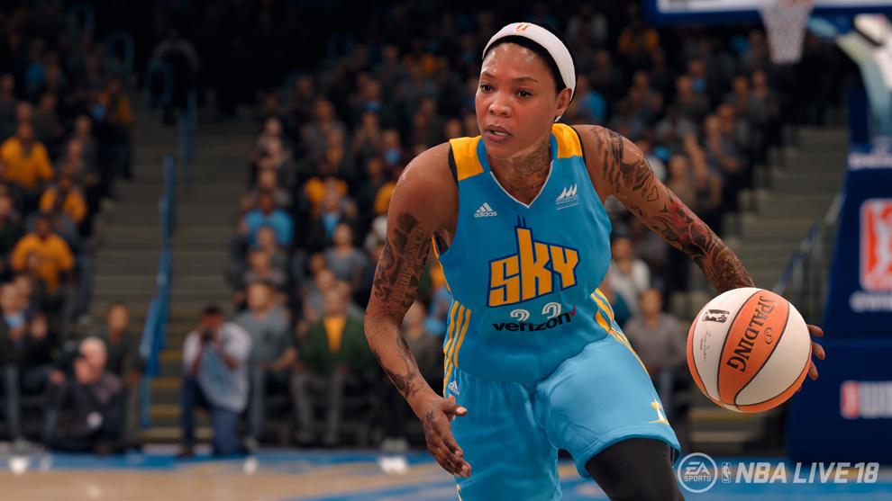 Los equipos y jugadoras de la WNBA estarán en 'NBA LIVE 18'
