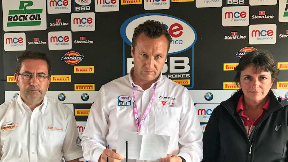 La dirección del circuito de Thruxton y del British Superbikes