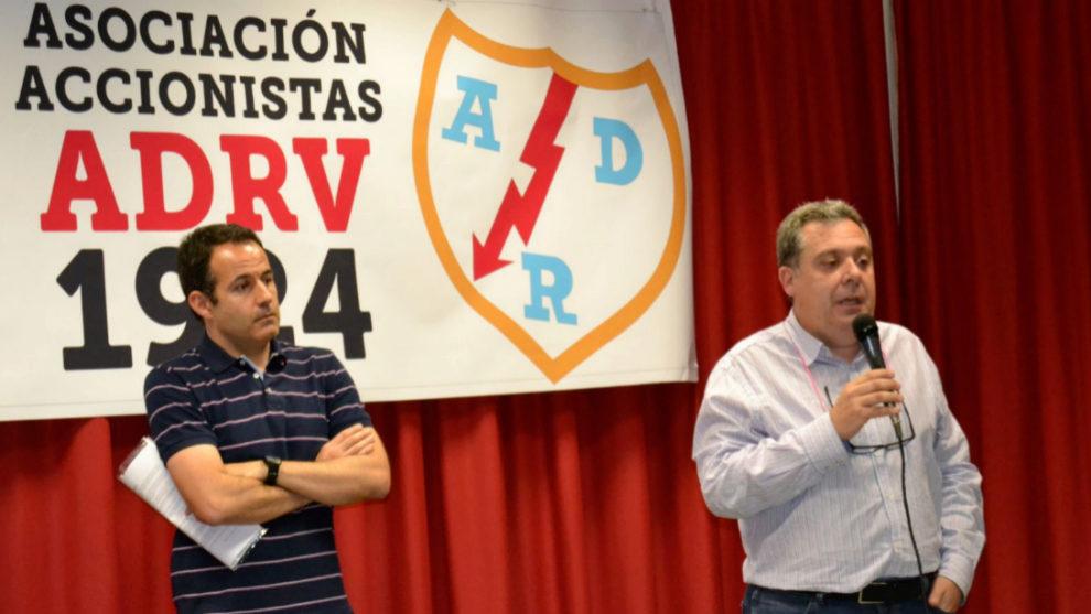 Fernando Sebastián y Ángel Barranco durante el acto de presentación...