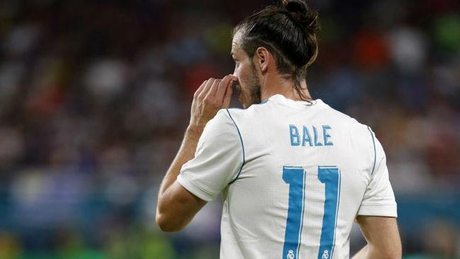 Bale en un partido de la gira americana