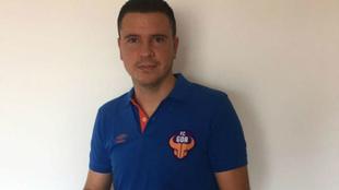 Sergio Lobera, con la equipación oficial del FC Goa