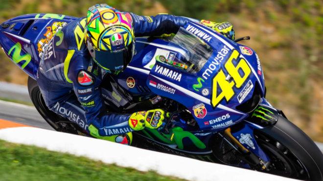 Valentino Rossi, en el test de Brno.
