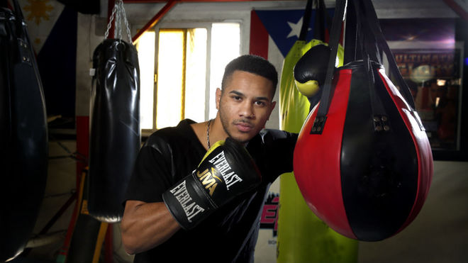 Jonathan 'Maravilla' Alonso, en un reportaje en el gimnasio Detroit.