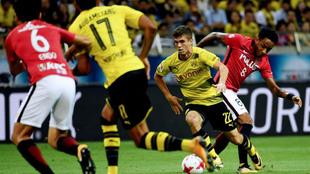 Pulisic, en un partido con el Dortmund.