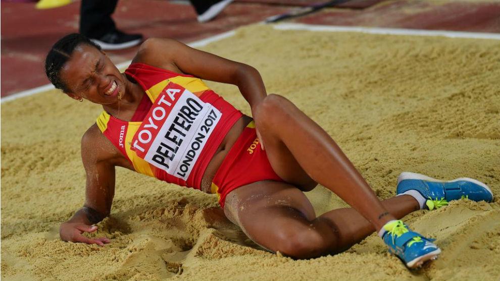 Ana Peleteiro sufrió la lesión tras efectuar su cuarto salto.
