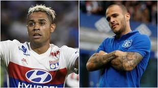 Mariano con el Lyon y Sandro con el Everton