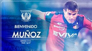 Muñoz, nuevo jugador del Leganés