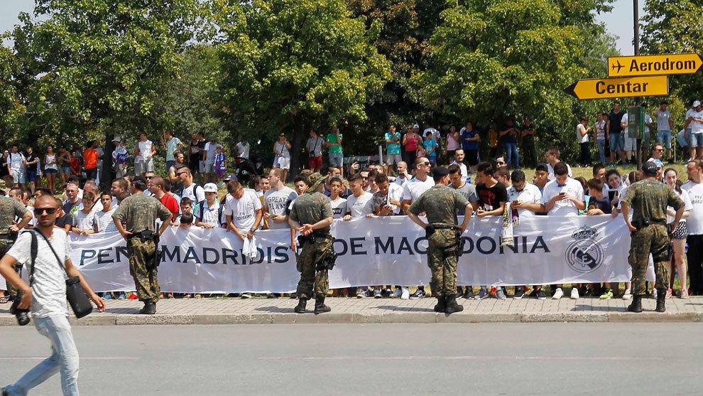 Peña madridista en Macedonia