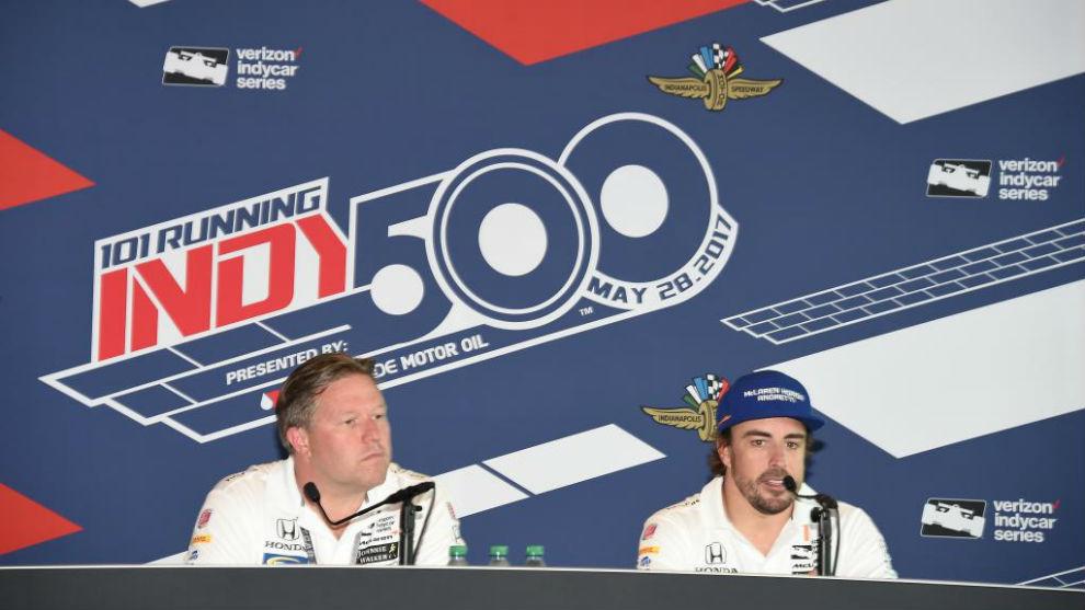 Brown y Alonso, en la IndyCar