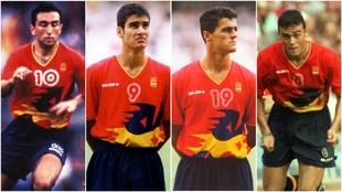 Jugadores como Abelardo, Guardiola, Kiko o Luis Enrique fueron...