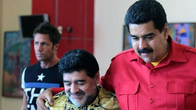 Maradona y Maduro en un encuentro reciente.