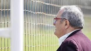 Luis Sabalza, durante una visita a Tajonar