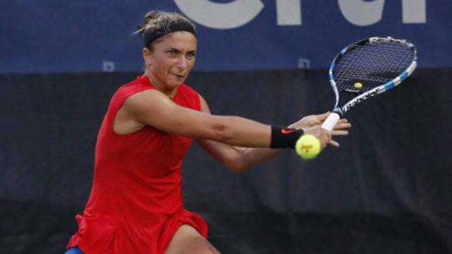 Sara Errani, durante un partido.