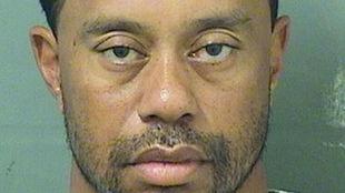 Foto tomada por la policía tras la detención del golfista.