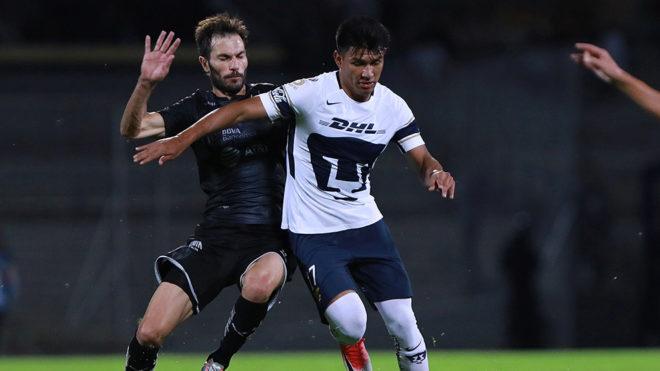 Gallardo anotó el del empate para Pumas.