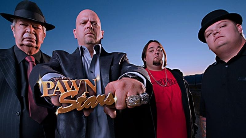 Los protagonistas de History's Pawn Stars (Casa de Empeños)