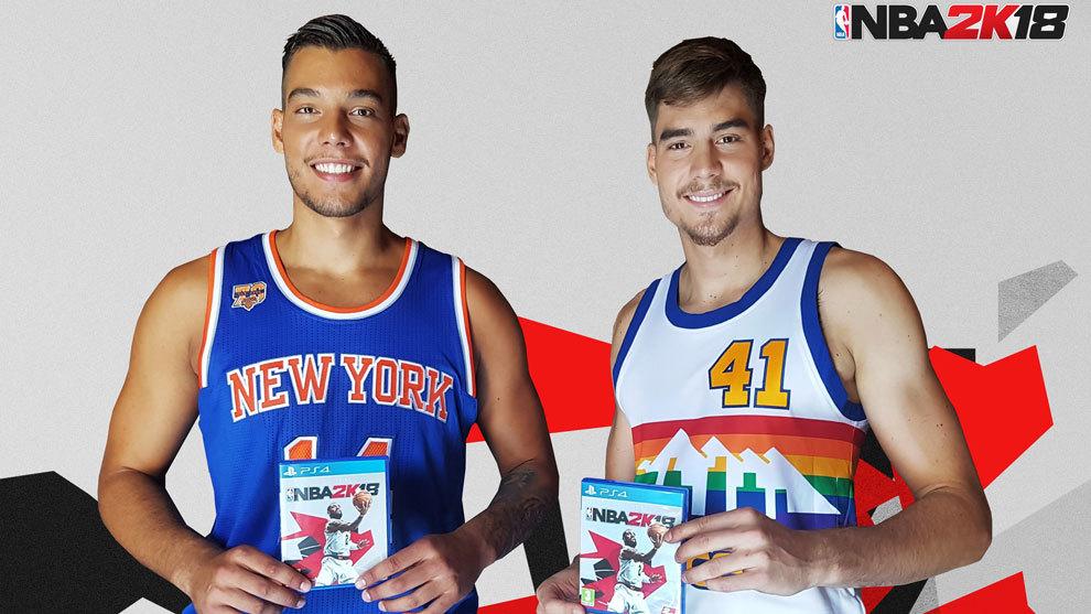 Willy y Juancho Hernangómez serán los embajadores de 'NBA 2K18' en España