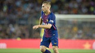 Deulofeu (23), en un partido del Barcelona