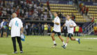Cristiano y Lucas ejercit�ndose tras el choque ante el United