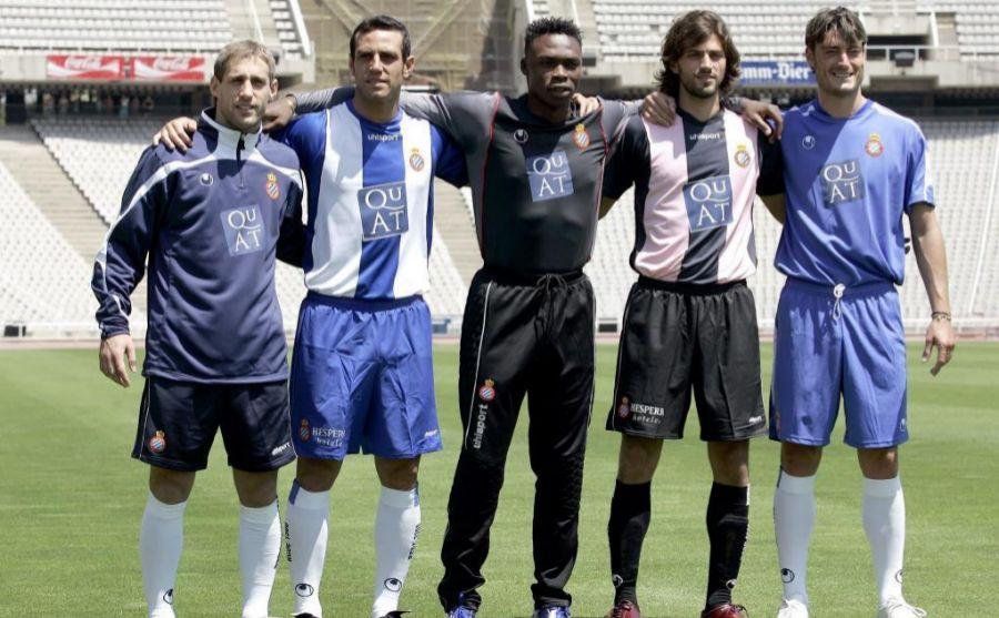 Moisés Hurtado junto a Dani Jarque en el Espanyol