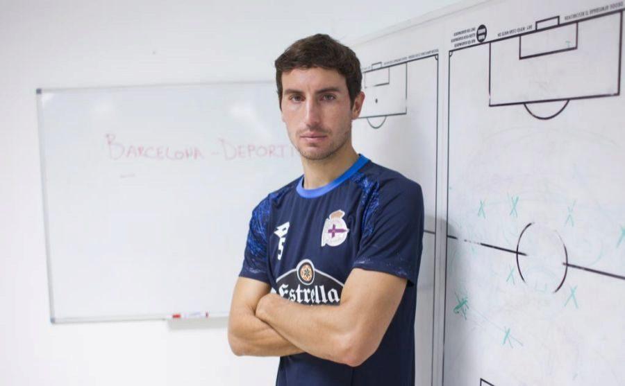 Pedro Mosquera con la camiseta del Deportivo