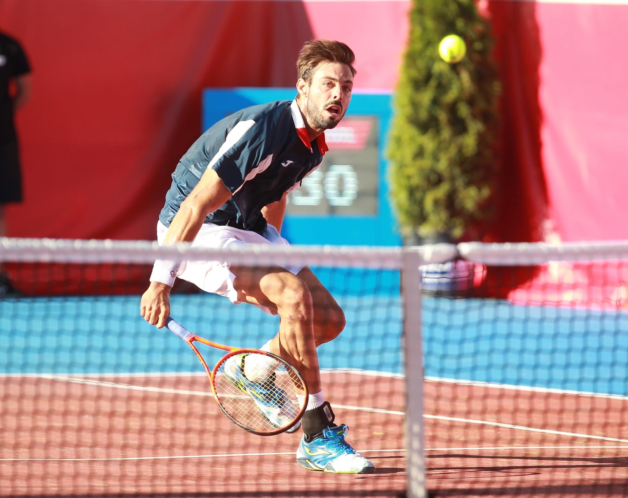 Marcel Granollers, en acción durante el pasado torneo de El Espinar
