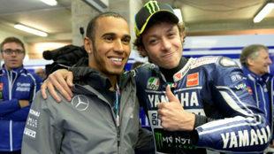 Rossi y Hamilton.