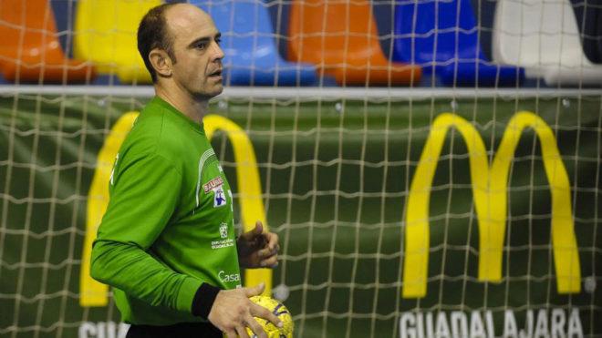 José Javier Hombrados durante un partido.