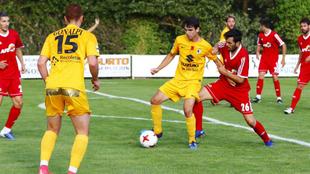 Instante del partido entre el Burgos y el combinado de la AFE