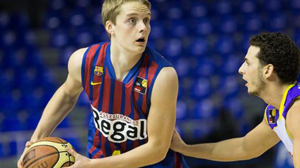 Hakanson (21), en un partido del Barcelona B