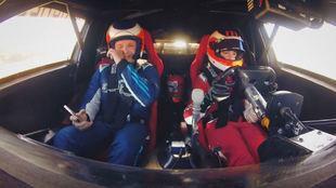 Rubens Barrichello, llorando como copiloto de su hijo