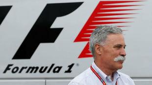 Chase Carey, CEO de Formula One Group, en SIlverstone