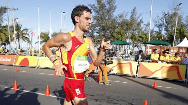 Álvaro Martín, durante los 20 km marcha de los Juegos de Río