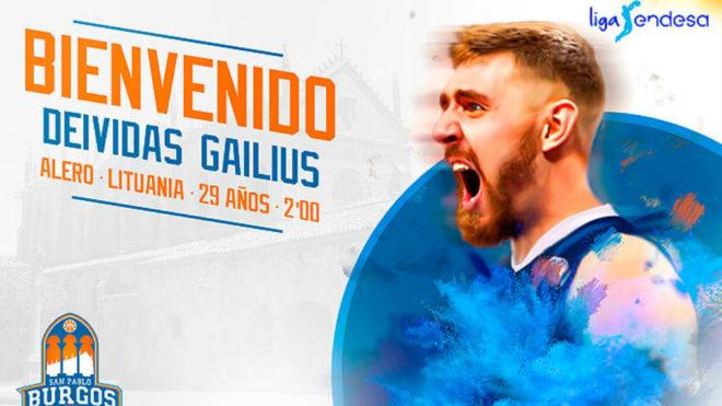 Deividas Gailius, nuevo jugador del San Pablo Burgos.