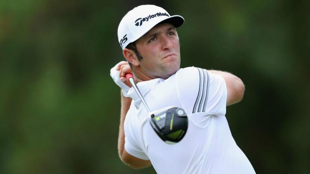 Jon Rahm, durante la segunda jornada del PGA Championship.