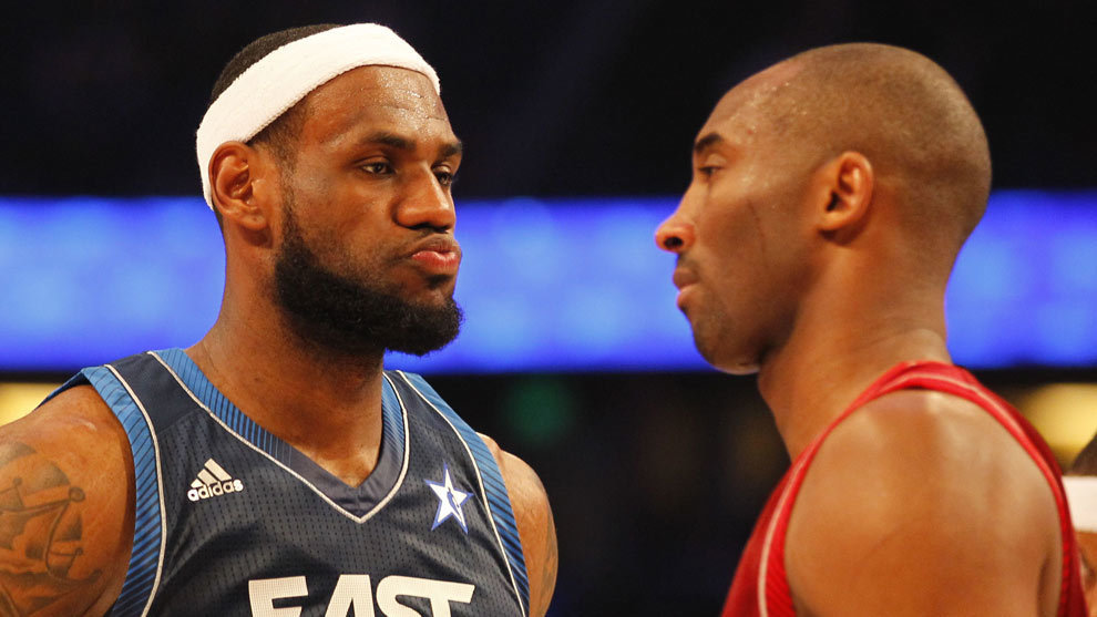 Kobe y Lebron durante un 'All Star'
