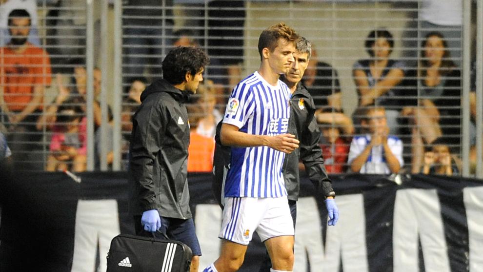 Lorrente sale lesionado de un partido de la Real Sociedad