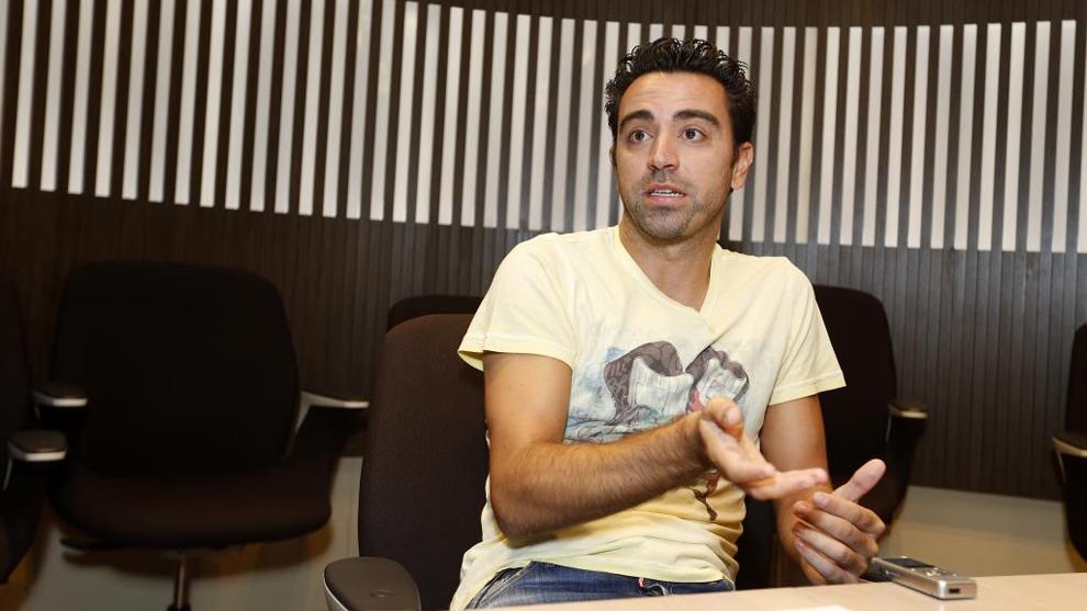 Xavi (37), en una entrevista con MARCA en Catar