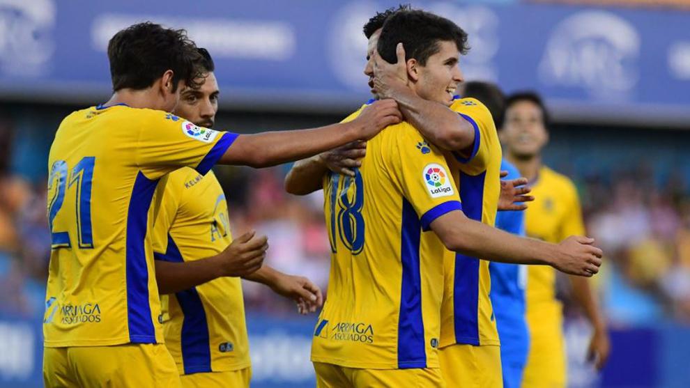 Alcorcón festeja un gol
