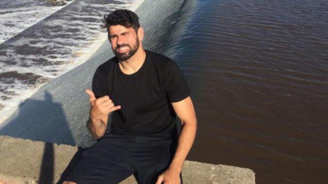 Diego Costa, en una foto colgada por él mismo en su cuenta de...