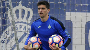 Gerard Moreno, durante un entrenamiento.