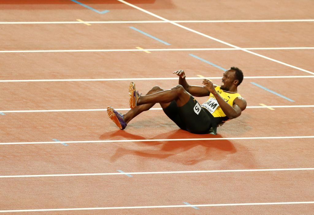 Bolt lamentándose sobre el tartán británico