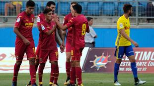 El Villarreal en un partido del trofeo Carranza ante el Málaga