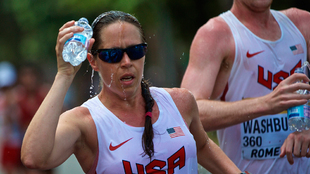 Erin Talcott compite en la marcha