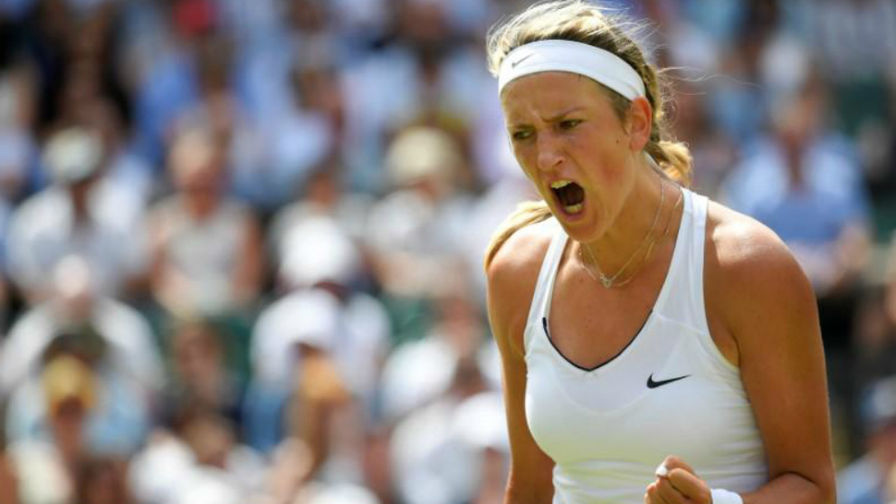 Victoria Azarenka, durante el pasado torneo de Wimbledon